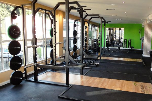 Full Racks, weights, platforms and flooring with logo finish
