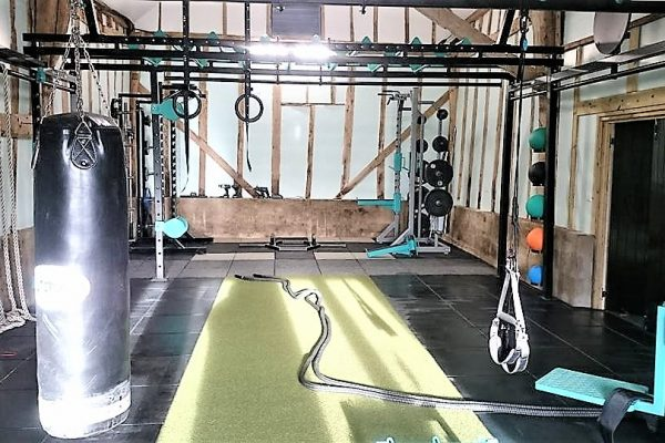 Barn Fitness XCUBE Rig and Rack, storage, flooring and accessories