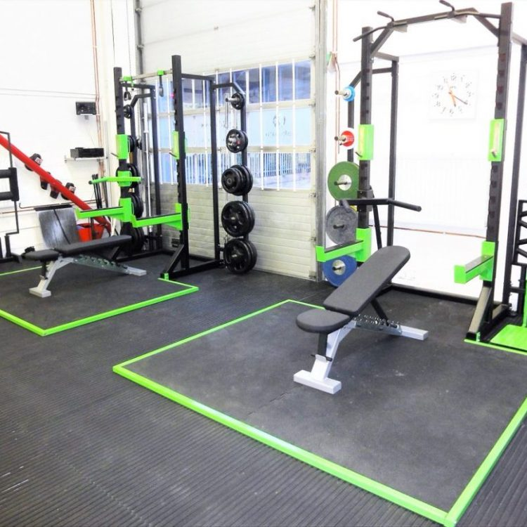 W10 Half Racks with weight storage, benches, platforms and accessories