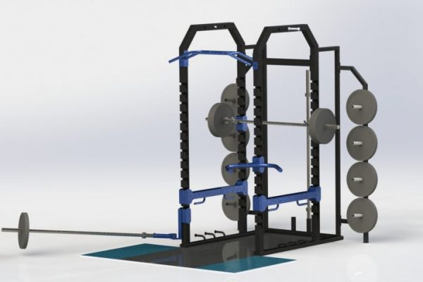 EXF Elite Full Rack with Attachment Training options and platform and storage