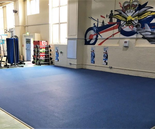 Fitness flooring for functional training and combat area