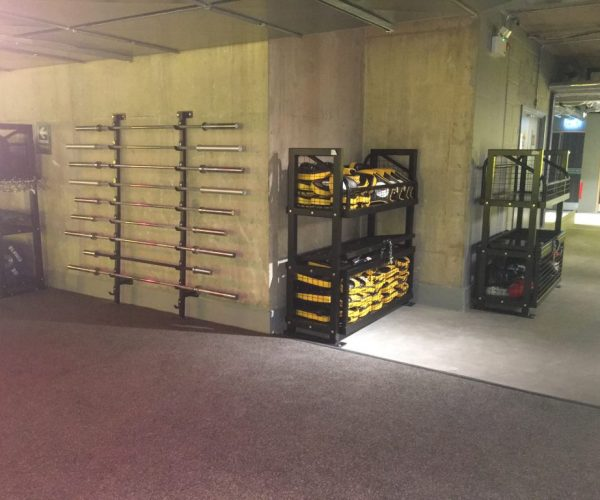Storage for barbells and other storage units