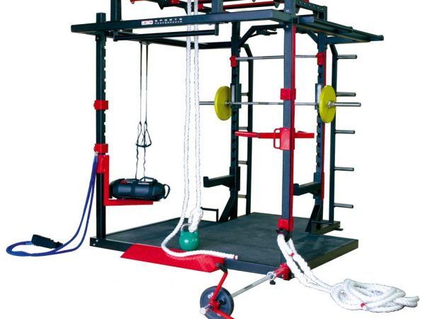 X-CUBE Lynx with attachments functional training rig