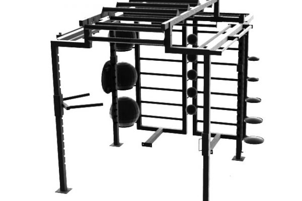 XCUBE Apex Functional Rig with Swiss and Med Ball storage and Sandbell and Steelbell storage