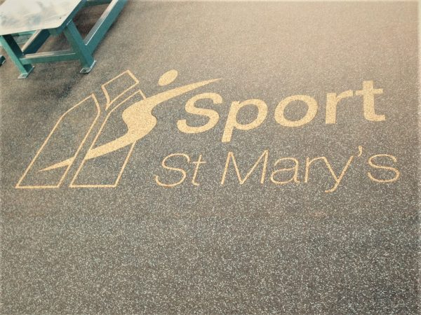 EXF Flooring St. Marys Inlayed Logo