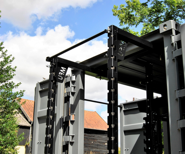 MFU weights rack folded out